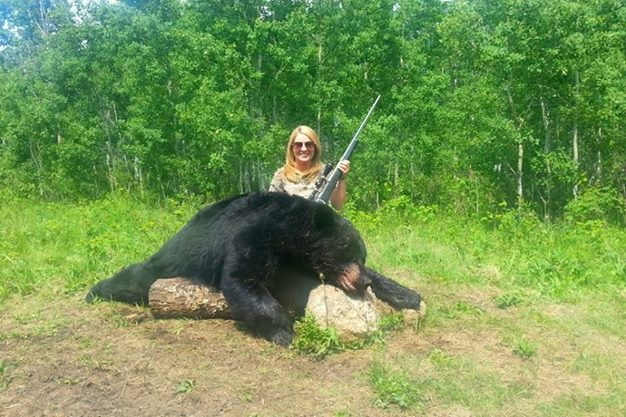 Natalie tolbert with her nice bear!!!
