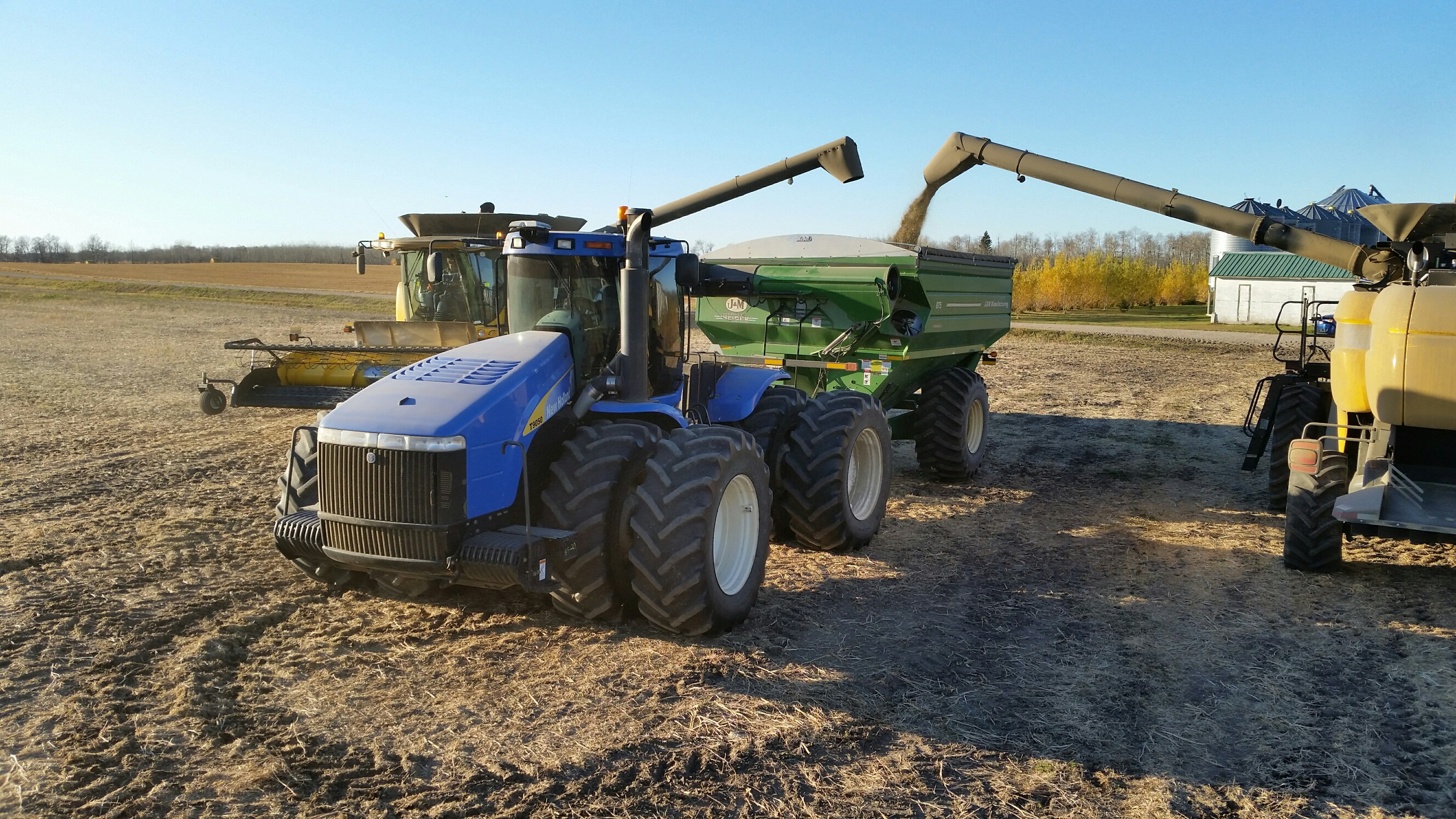 Filling the grain cart