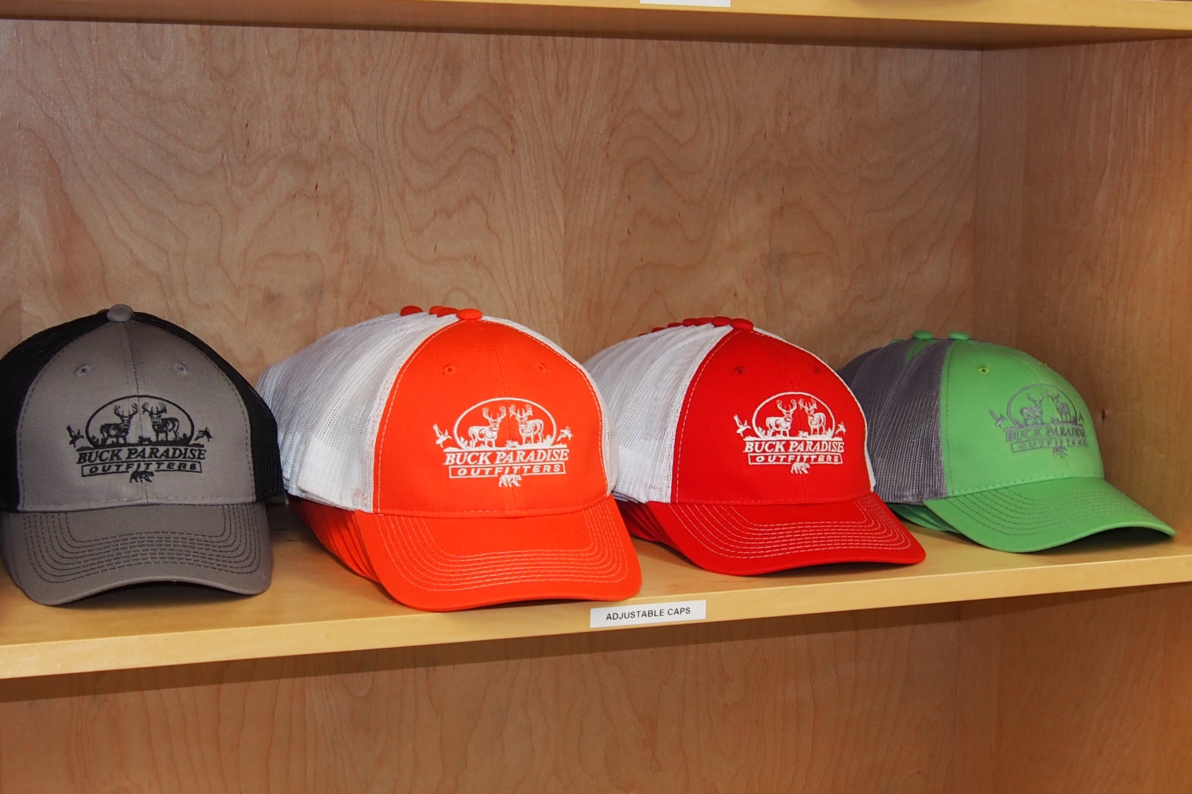 Selection of coloured caps